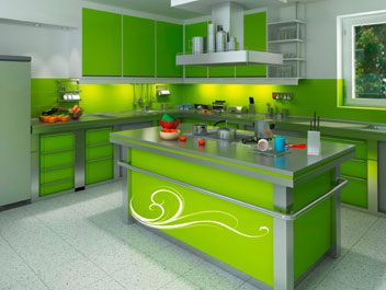Green And Red Apple Kitchen Decor